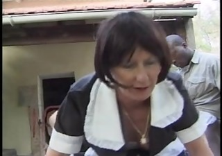 french mature maid receive screwed by huge dicks