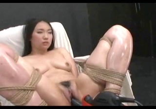 oriental made to orgasm with vigour tools
